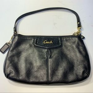 Coach Purse Wristlet Clutch Black Leather